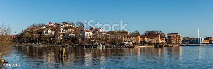 istock Snmall houses at Slottsberget in beautiful sunlight. 1250729917