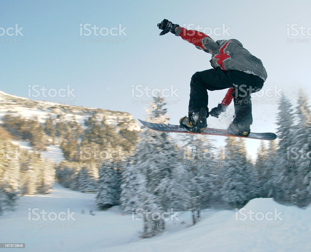 Snoboarder in action royalty-free stock photo