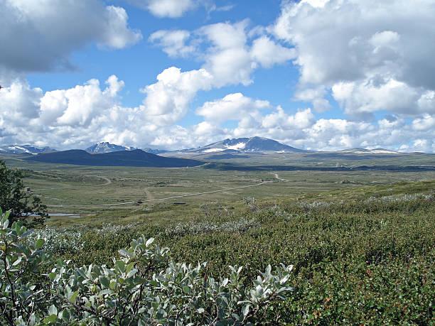 Snohetta highest mountain in Dovrefjell Norway stock photo