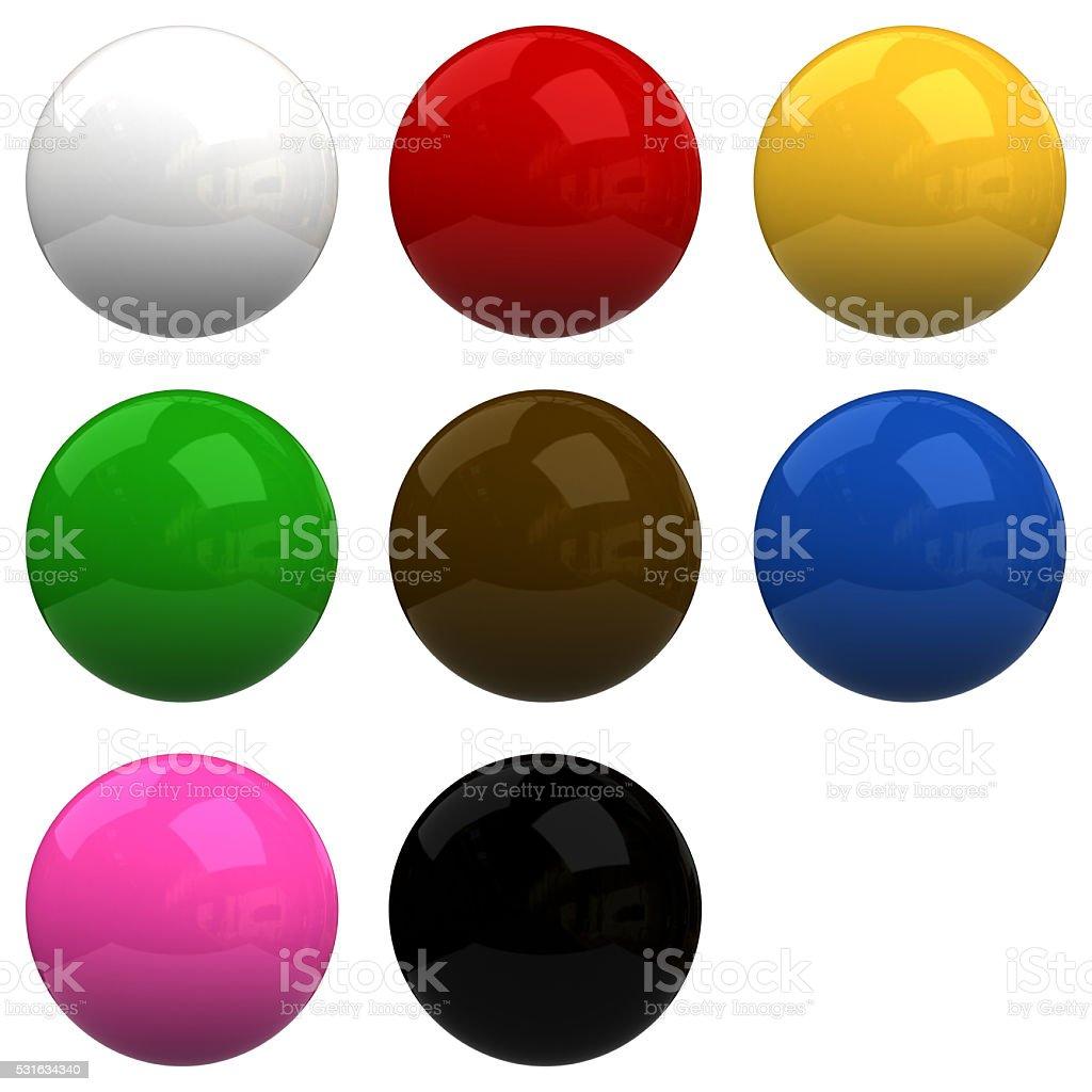 snooker ball stock photo
