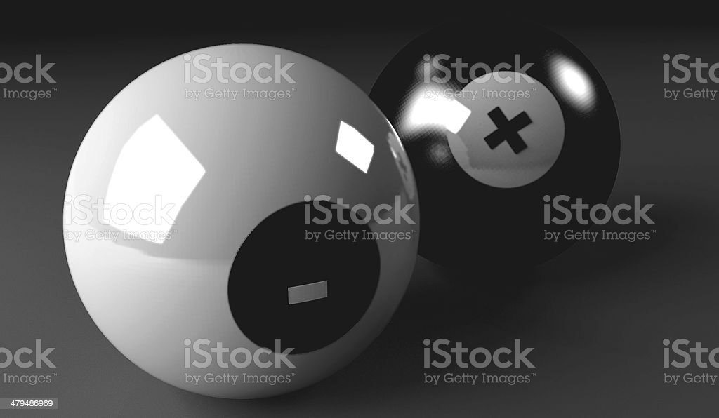 Snooker balls colorless stock photo