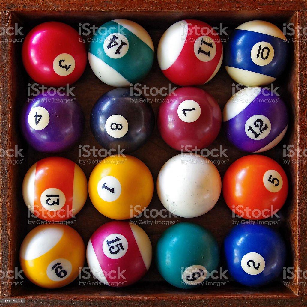 Snooker Balls stock photo