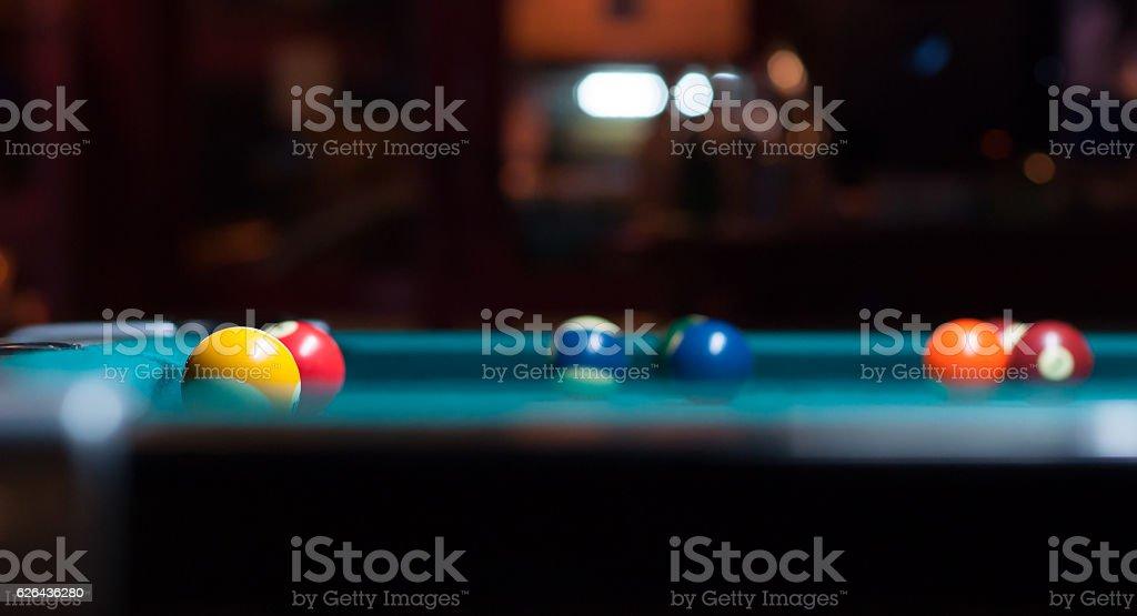 snooker balls. stock photo