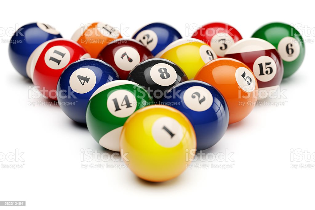 Snooker billiard balls pyramid – Foto