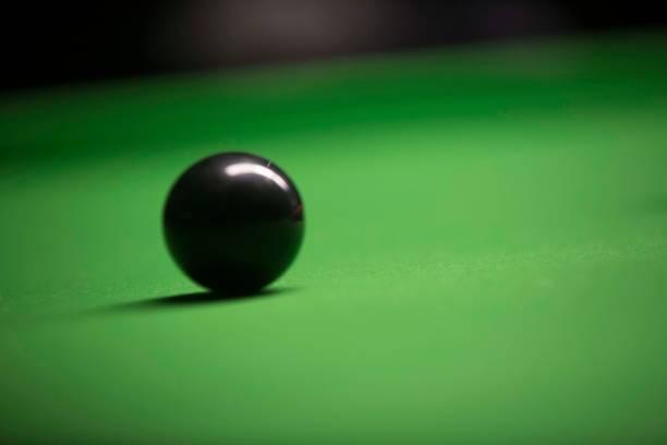 Snooker Black Ball stock photo