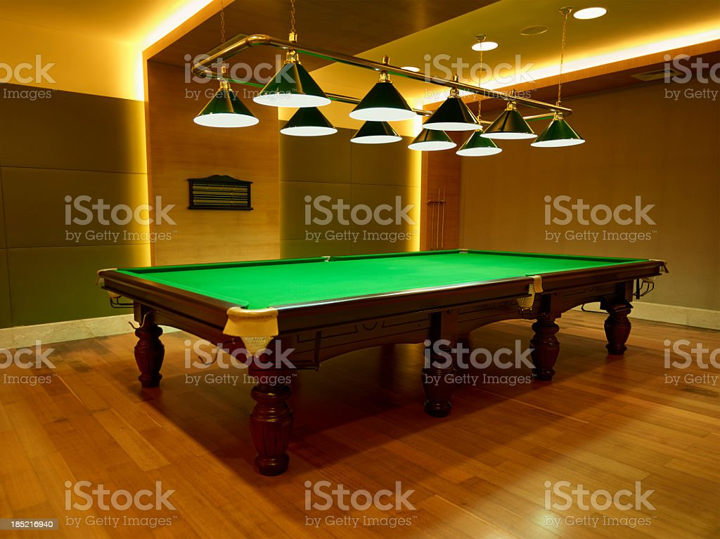 Snooker table royalty-free stock photo