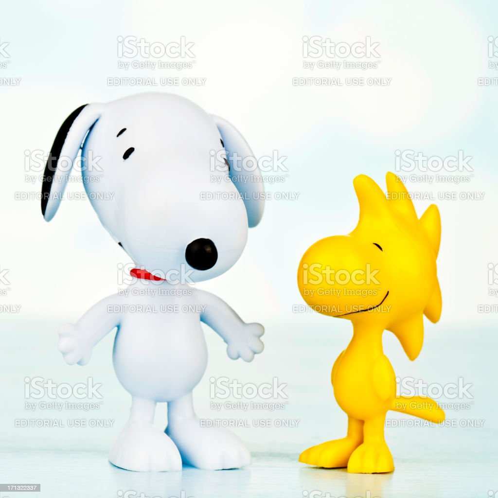 Snoopy And Woodstock stock photo