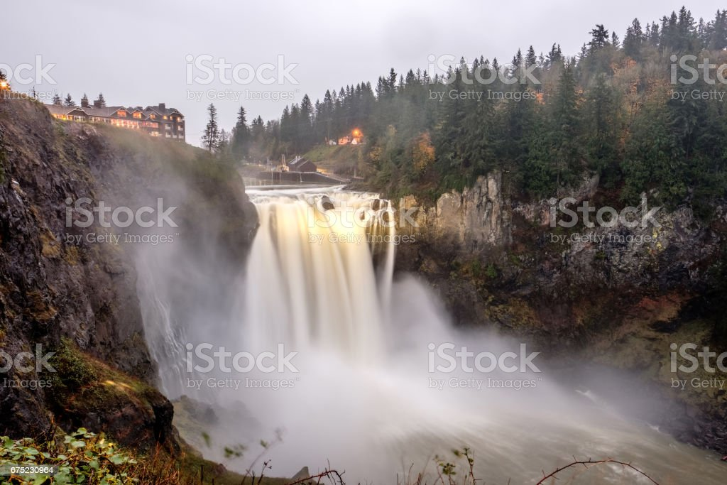 Snoqualmie Falls in Washington State stock photo