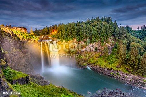 Falls City, Washington, USA at Snoqualmie Falls.