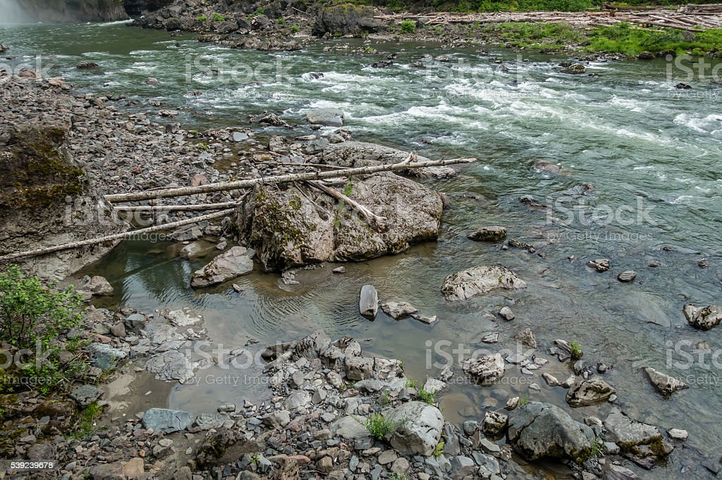 Snoqualmie River Rapids 2 royalty-free stock photo
