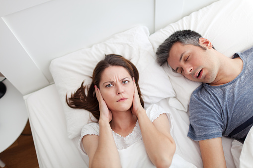 Snoring Husband Stock Photo - Download Image Now