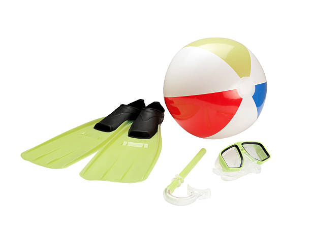 Snorkel, Beach Ball And Flippers