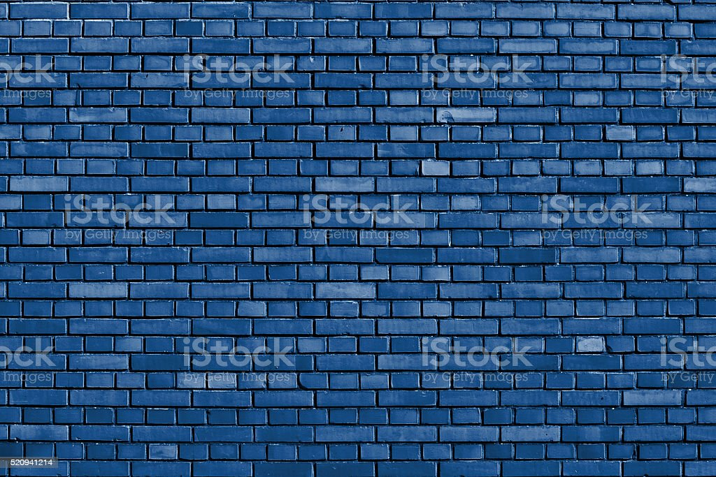 Snorkel blue brick wall background stock photo