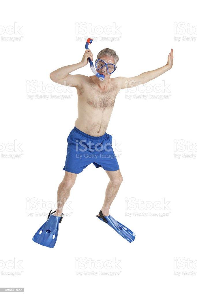 Snorkel Guy stock photo