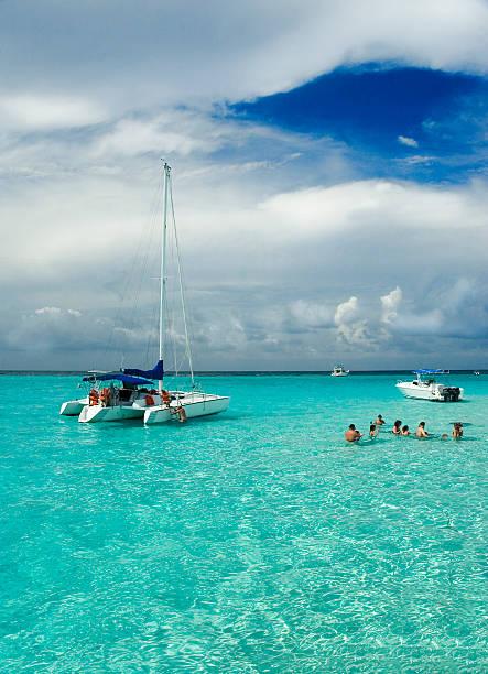 snorkel sandbar - katamaran bildbanksfoton och bilder