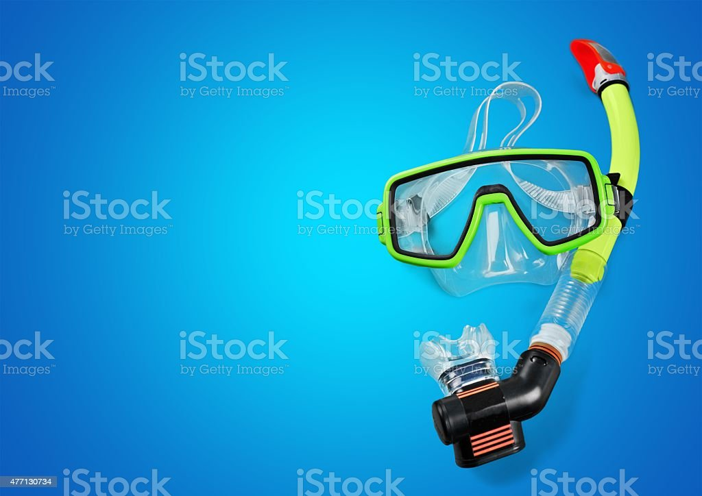 Snorkel, Scuba Mask, Isolated stock photo