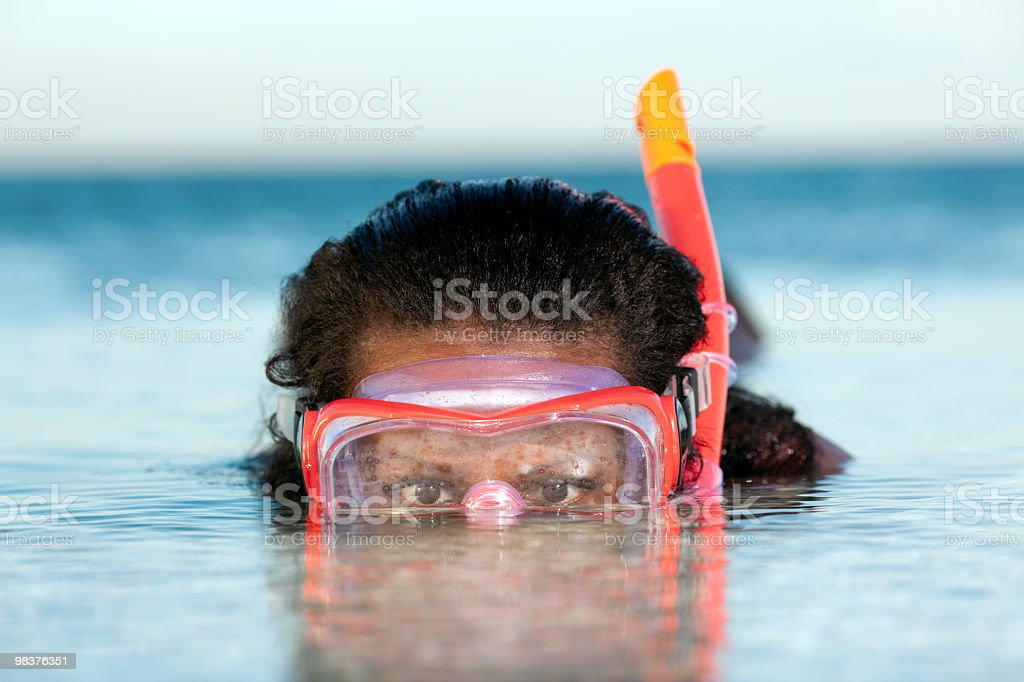 Snorkeler royalty-free stock photo