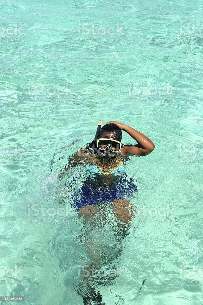 Snorkeling 1 royalty-free stock photo