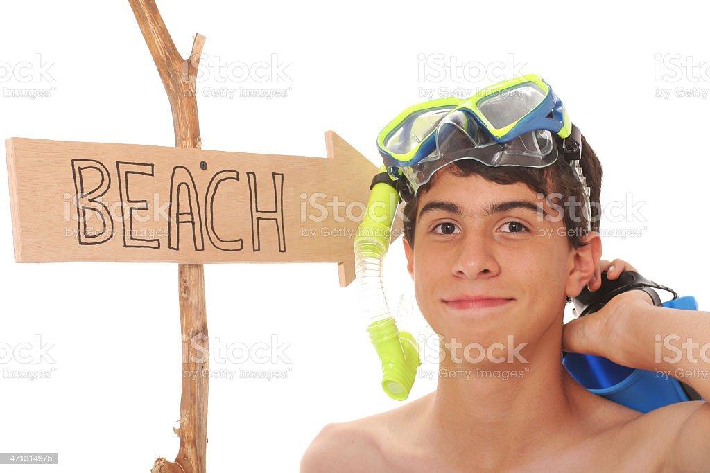 Snorkeling Fan royalty-free stock photo