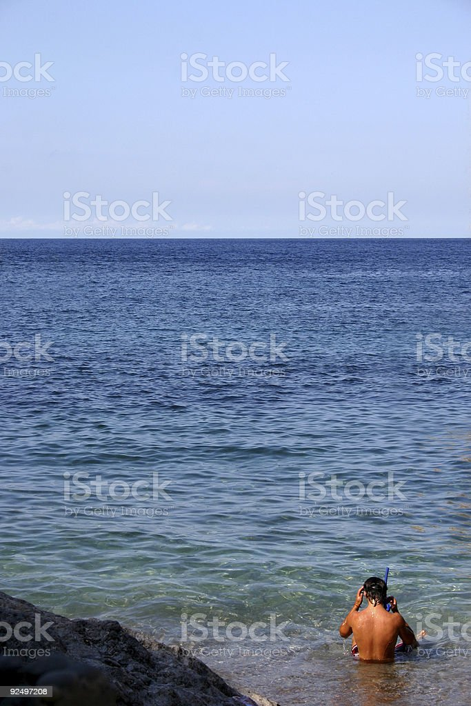 Snorkeling royalty-free stock photo
