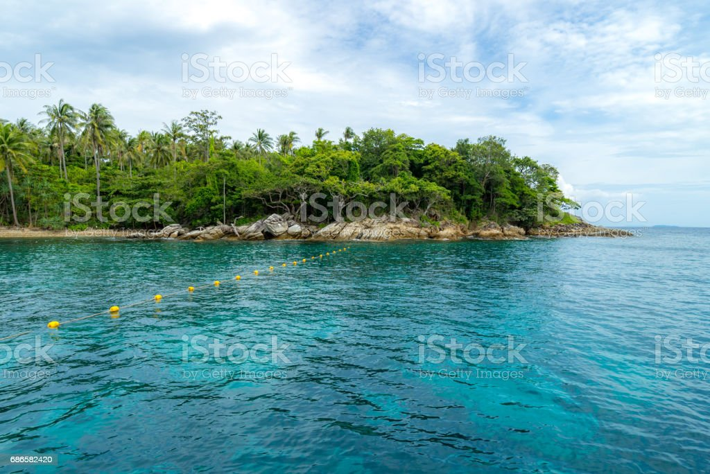 Snorkeling point Phuket royalty-free stock photo