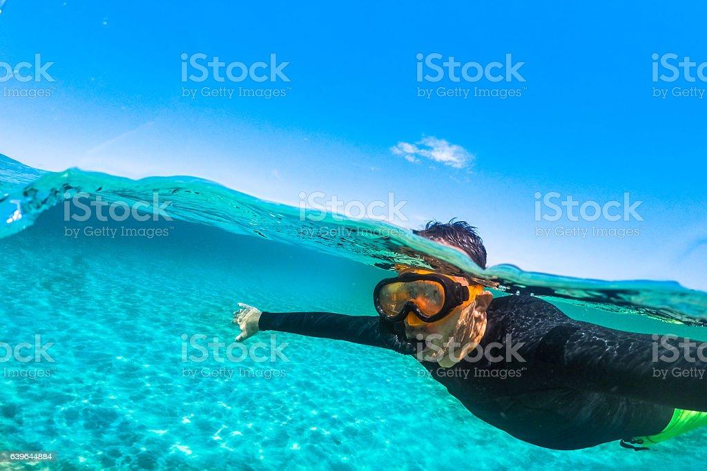 Snorkeling time stock photo
