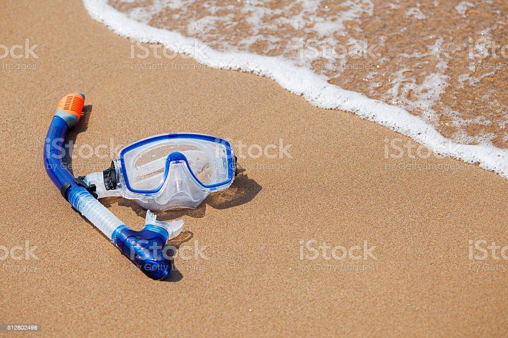 Snorkelling mask stock photo