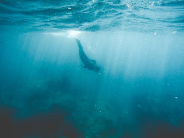 Snorkelling stock photo