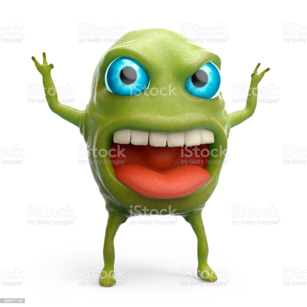 snot slime monster stock photo