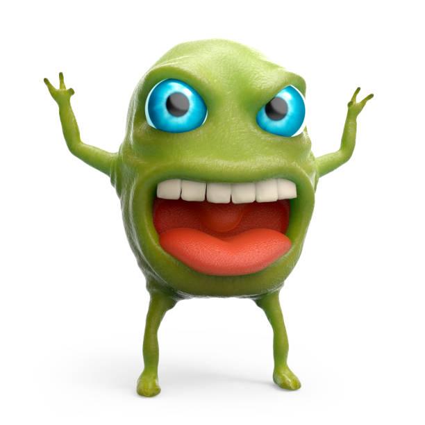 snot slime monster stock photo