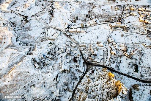 515376634 istock photo Snow and Air Balloon Cappadocia 1146681563