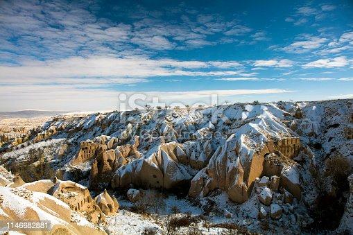 515376634 istock photo Snow and Air Balloon Cappadocia 1146682881