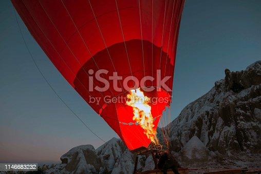 515376634 istock photo Snow and Air Balloon Cappadocia 1146683232