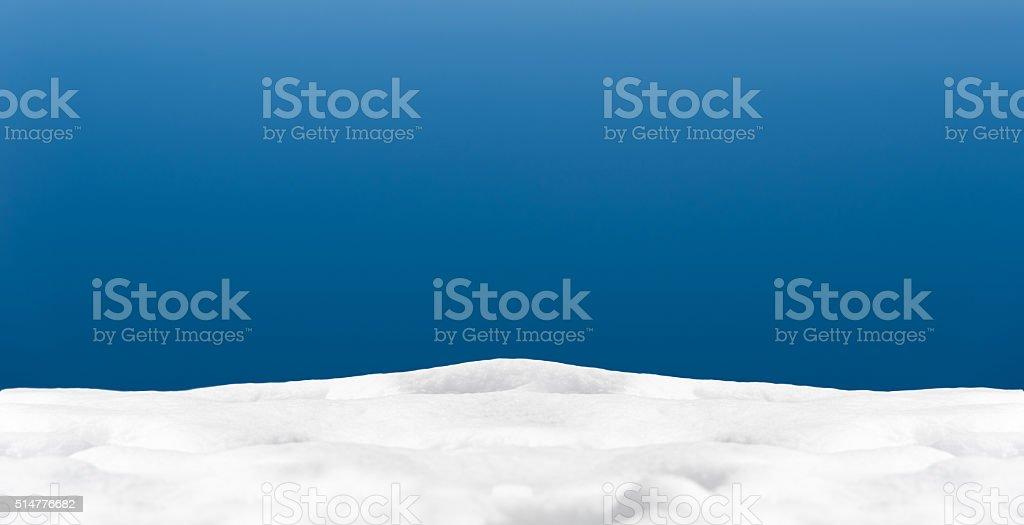 Schnee und blauer Himmel Hintergrund – Foto