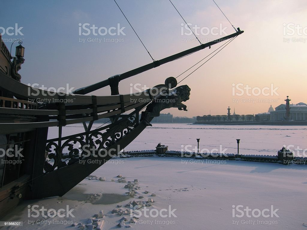 Snow and frost royalty-free stock photo