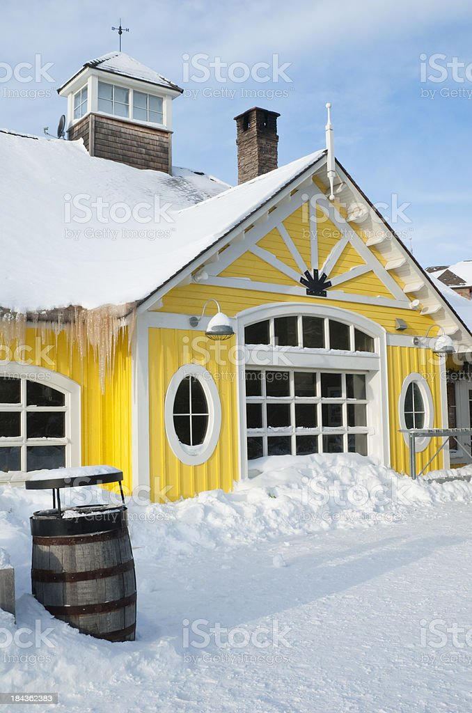 Snow and Ice At Blue Mountain stock photo