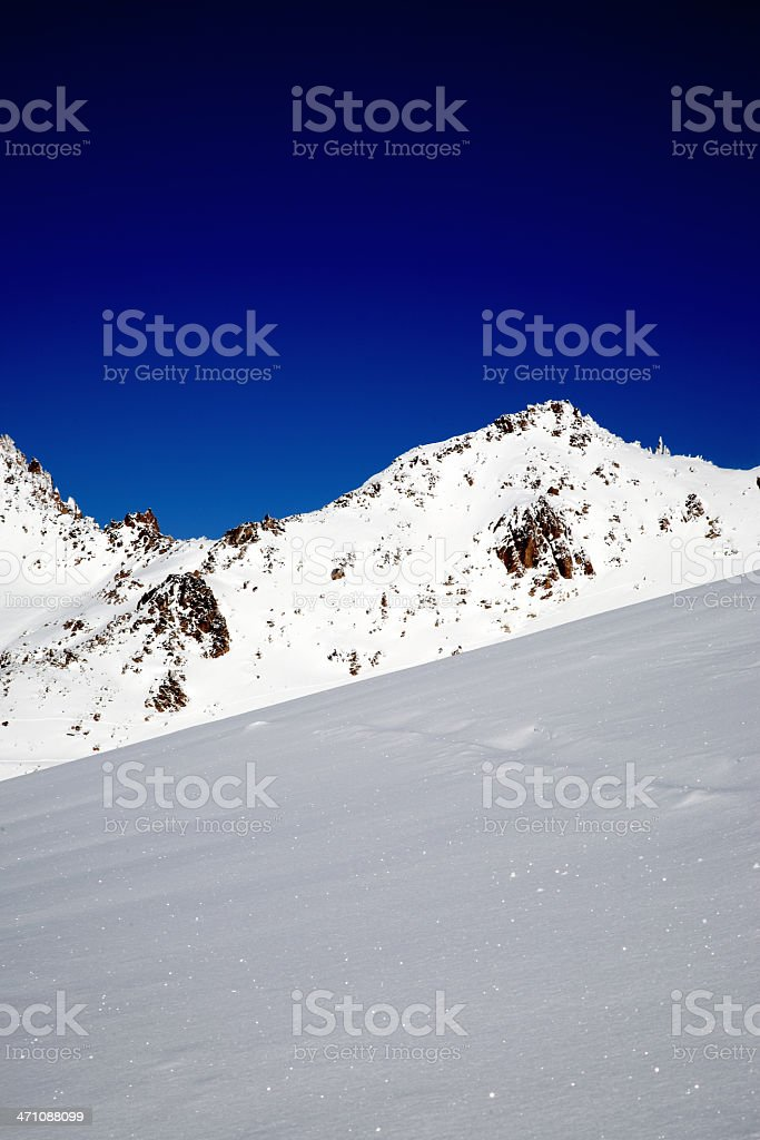 Snow and Sky royalty-free stock photo