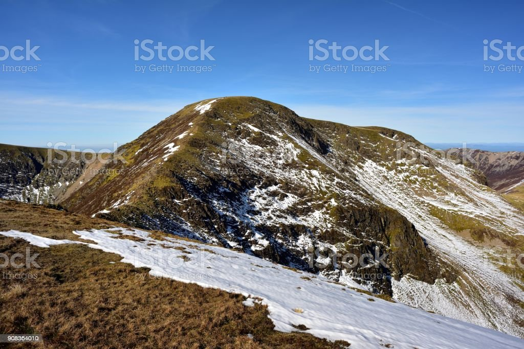 Snow and The Scar from Sail stock photo