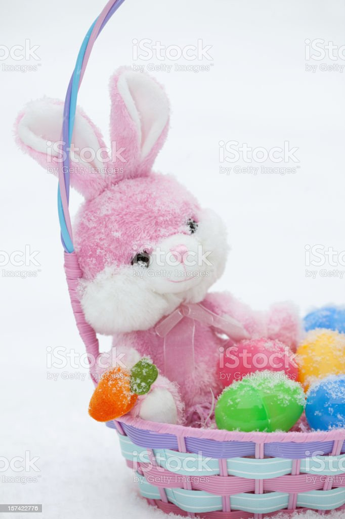 Snow at Easter stock photo