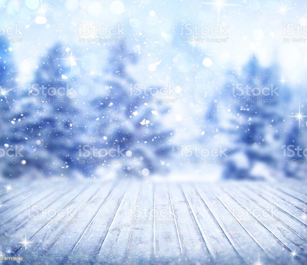 Fundo de neve - foto de acervo