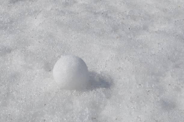 Snow Ball in the White Snow stock photo