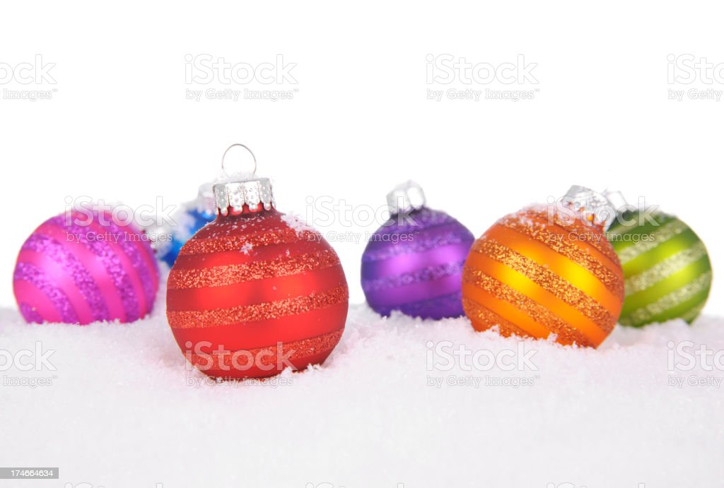 Snow Baubles royalty-free stock photo
