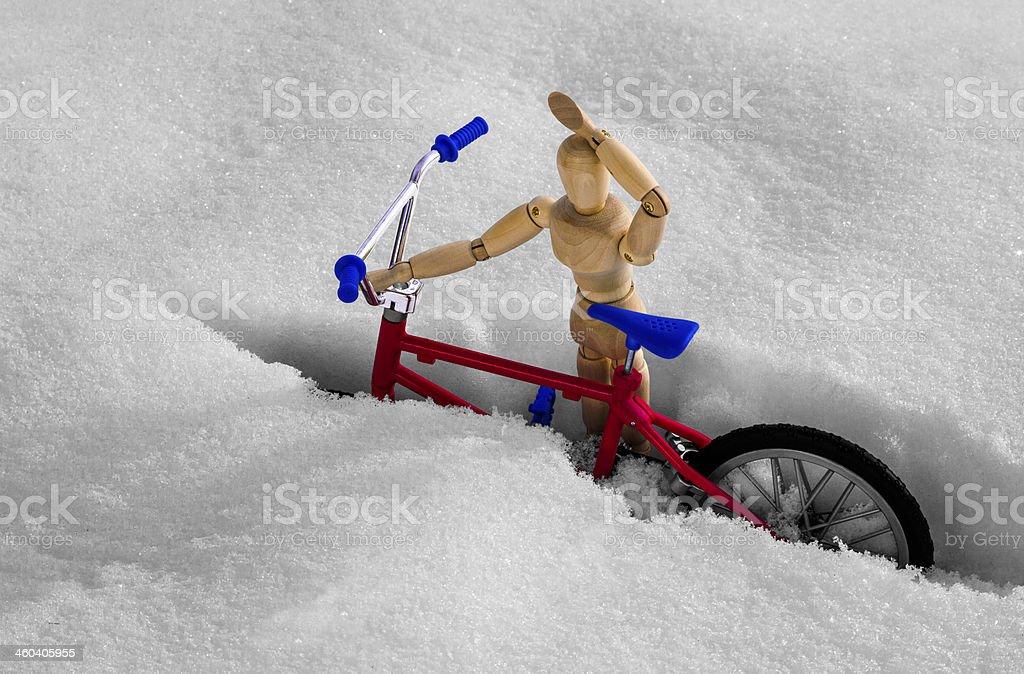 Snow Bike royalty-free stock photo