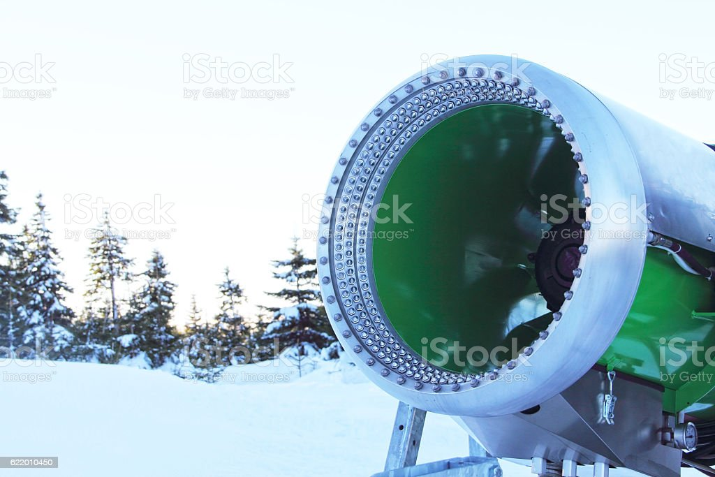 Snow blower machine stock photo