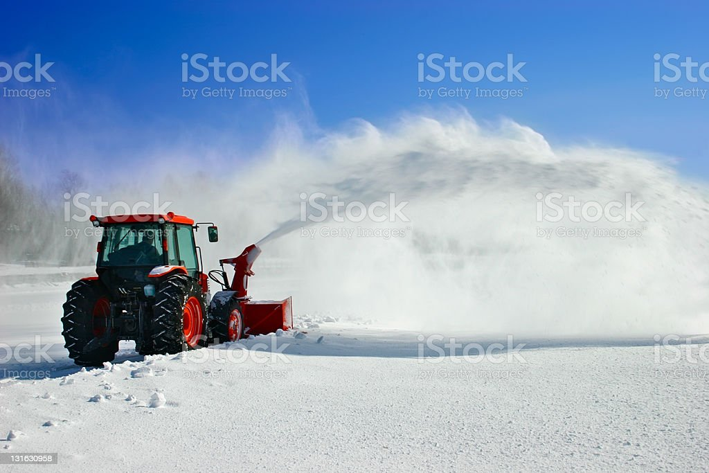 Snow Blower royalty-free stock photo