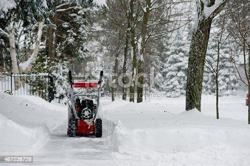 istock Snow Blower 467238726