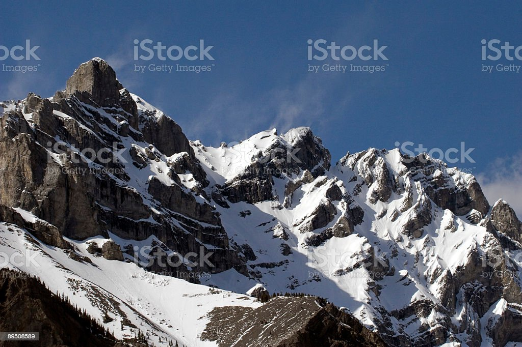 Snow blowing Mountain royalty-free stock photo