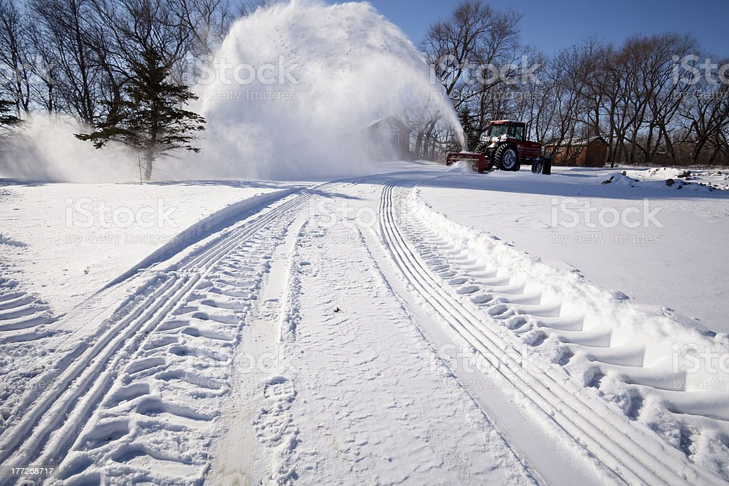 Snow Blowing royalty-free stock photo