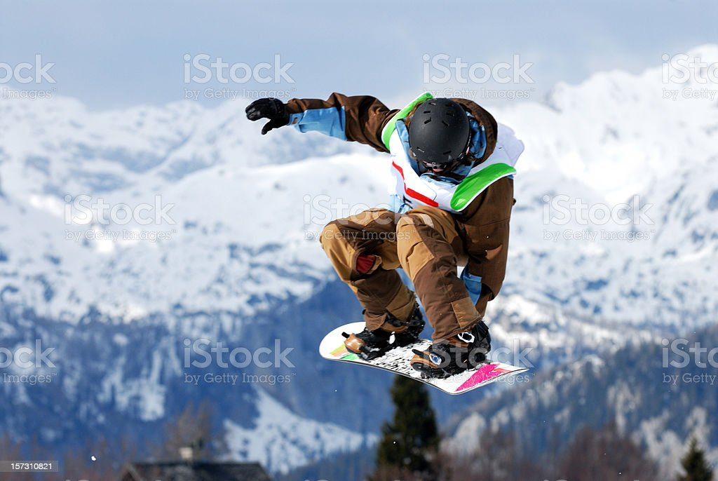 Snow board competition stock photo