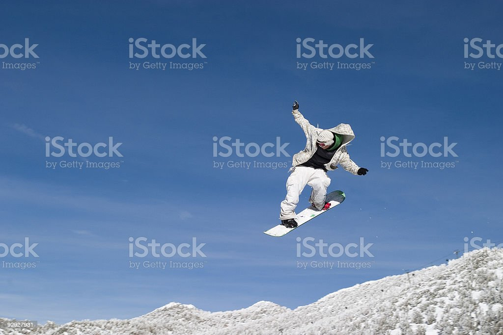Snow Boarder High in the air royalty-free stock photo